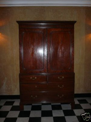 beautiful large antique mahogany linen pressarmoire this gorgeous mahogany armoire would be perfect in your bedroom for clothing or linens antique mahogany armoire